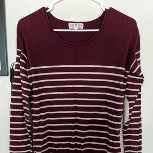 Tops - Striped Long Sleeved Shirt